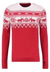 Blend Of America Jumper Offwhite Red