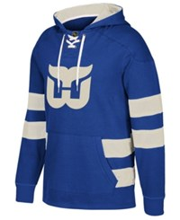 Ccm Men's Hartford Whalers Pullover Jersey Hoodie Blue