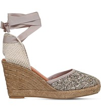 Kg By Kurt Geiger Mimi Glitter Wedge Sandals Gold
