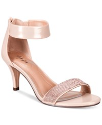 Styleandco. Style Co. Phillys Two Piece Evening Sandals Only At Macy's Women's Shoes Rose Gold Sparkle