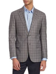 Emporio Armani G Line Checked Wool Jacket Coffee