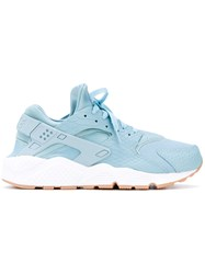 Nike Air Huarache Run Se Sneakers Women Leather Polyester Rubber 9 Blue