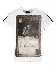 Religion T Shirt With Playing Card Print White