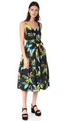 Marc Jacobs Parrot Corset Top Dress Black Multi