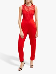 French Connection Manhattan Jumpsuit Mars Red