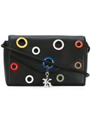 Christopher Kane Eyelet Detail Devine Shoulder Bag Women Calf Leather One Size Black