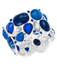 Styleandco. Style And Co. Silver Tone Blue Stone Bracelet