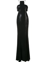 Jay Godfrey Cut Out Details Gown Black