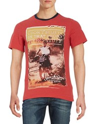Barbour Hero Graphic Tee Red