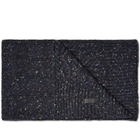 Fred Perry Flecked Cable Scarf Navy And Black