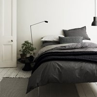 Murmur Dansu Duvet Cover Charcoal Black And White