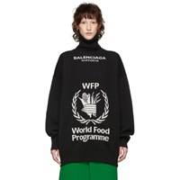 Balenciaga Black World Food Programme Turtleneck