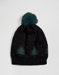 7X Christmas Christmas Tree Beanie Black