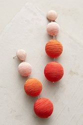 Anthropologie Ombre Orb Drop Earrings Bright Red