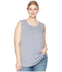Aventura Clothing Plus Size Dharma Tank Top Blue Indigo Sleeveless
