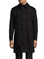 G Star James Trench Coat Black