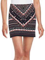 Romeo And Juliet Couture Embroidered Mini Skirt Black Multi