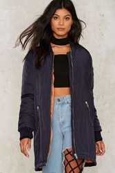 Army Of One Bomber Jacket Navy Blue
