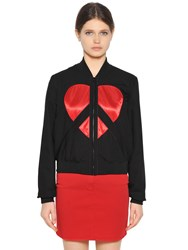 Love Moschino Embroidered Viscose Bomber Jacket