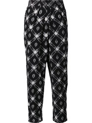 Masscob Printed Cropped Trousers Black