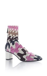 Emilio Pucci Wave Printed Ankle Boot Pink