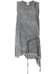 Lost And Found Rooms Draped Tank Top Women Tencel S Grey