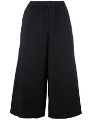 Comme Des Garcons Wide Legged Cropped Trousers Black