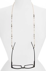 Women's Spring Street Hematite Bead And Crystal Eyeglass Chain