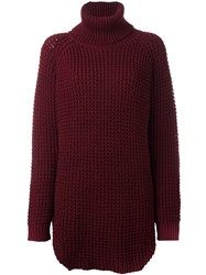 Hope Roll Neck Jumper Red