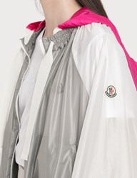 Moncler Lightweight Nylon Jacket With Removable Hood Grey