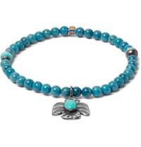 Peyote Bird Lapis Turquoise And Sterling Silver Bracelet Blue