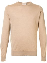 John Smedley Long Sleeve Fitted Sweater Brown