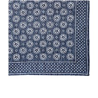 Thomas Mason Men's Medallion Pattern Canterbury Handkerchief Blue