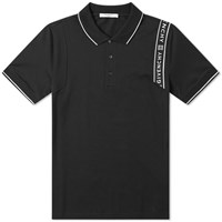 Givenchy Tape Detail Polo Black