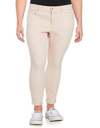 Jessica Simpson Plus Forever Rolled Skinny Jeans Pink
