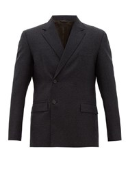Acne Studios Jacup Double Breasted Wool Twill Suit Jacket Grey