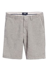 Vilebrequin Big And Tall Panama Linen And Cotton Chino Shorts Limestone