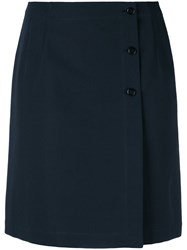 A.P.C. 'Lana' Button Detail Skirt Blue