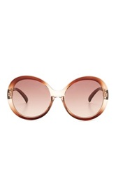 7 For All Mankind Women's Magnolia Oversized Circle Sunglasses Brown