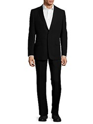 Versace Classic Fit Solid Wool Suit Navy