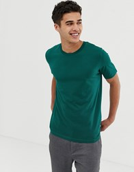 Selected Homme Perfect T Shirt In Pima Cotton Rain Forest Green