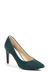 Cole Haan Women's 'Eliza Grand. Os' Pointy Toe Pump Scarab Green Suede