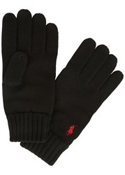 Polo Ralph Lauren Black Merino Wool Gloves