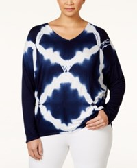 Nanette By Nanette Lepore Plus Size Tie Dyed Dropped Shoulder T Shirt Only At Macy's Diamond