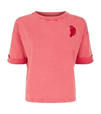 Maje Parrot Embroidered T Shirt Female Pink