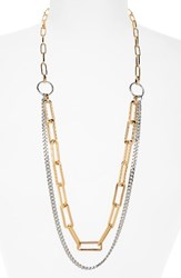 Nordstrom Women's Double Row Chain Necklace