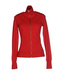 Met Topwear Sweatshirts Women Red