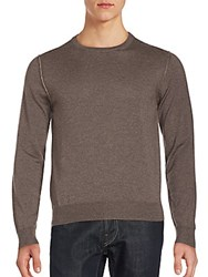 Canali Wool Long Sleeve Pullover Brown