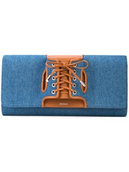 Perrin Paris Le Corset Clutch Bag Blue