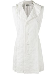 Issey Miyake Single Breasted Gilet Women Cotton 2 White